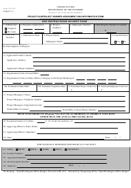 "Form 1310-20 ""Project/Subproject Number Assignment and Information Form"""
