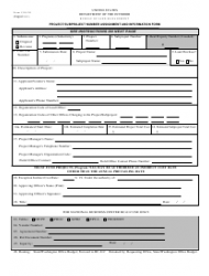 Form 1310-20 Project/Subproject Number Assignment and Information Form