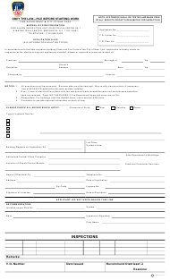 "Form A-433 ""Inspection Report"" - New York City"
