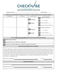 """Direct Deposit Enrollment / Change Form - Checkwise Payroll"" - New York"