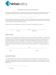 """""""Parent-Teen Driving Agreement Template - I Drive Safely"""""""