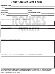 Donation Request Form - Rouses Markets