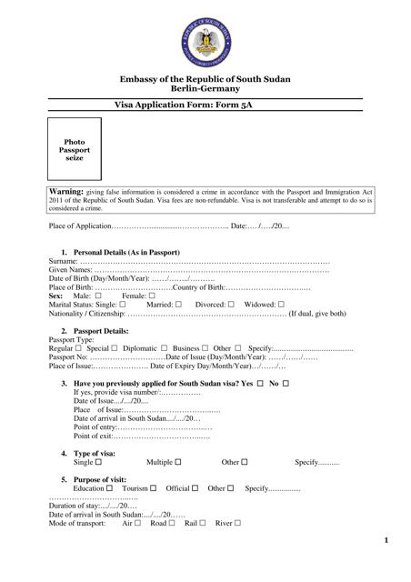 Form 5A  Fillable Pdf
