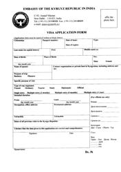 """Kyrgyz Visa Application Form - Embassy of the Kyrgyz Republic in India"" - New Delhi, Delhi, India"