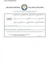 """Kygyz Visa Application Form - the Embassy of the Kyrgyz Republic"" - Greater London, United Kingdom"