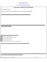 Hib Incident Report Form - Wayne Public Schools