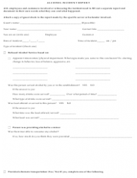Alcohol Incident Report Form - Topshelf