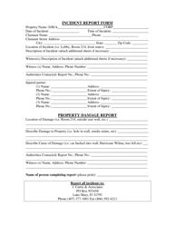 Incident Report Form - J.curtis & Associates