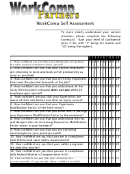 """Business Self Assessment Template - Workcomp Partners"""