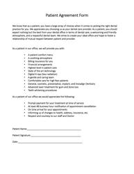 Patient Agreement Form