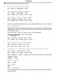 Calculating Ph and Poh Worksheet With Answers Download ...