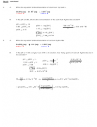 Ph and Poh Calculations Chemistry Worksheet With Answers ...