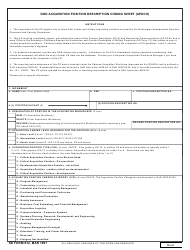 SD Form 812 Acquisition Position Description Coding Sheet (Apdcs)