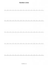 Blank Number Lines Template