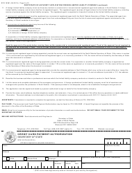 """Form SFN19381 """"Certificate of Authority Application Foreign Limited Liability Company"""" - North Dakota, Page 3"""