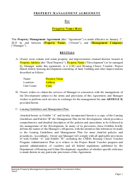 """Sample """"Property Management Agreement Template"""""""