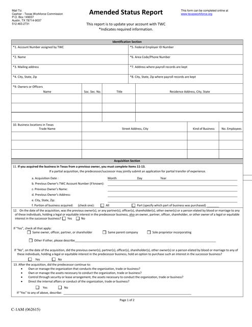 Form C-1AM  Printable Pdf