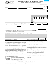 """Form DE-9423 """"Quarterly Contribution Return for School Employers"""" - California"""