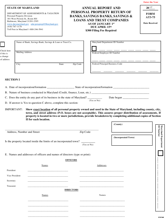 Form AT 3-75 Fillable Pdf