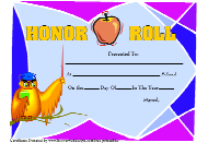 """Honor Roll Certificate Template"""