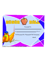 a honor roll certificate of academic achievement template download