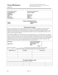 Form T-64 Disclosure - Texas