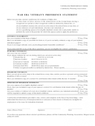 Veterans Preference Form - Community Planning Association - Idaho