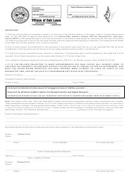 Real Estate Transfer Tax Form - Oak Lawn, Illinois
