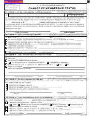 Form ANSC 7035 Change of Member Status
