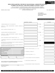Form W-1 KJDA Employers Quarterly Return of Occupational License Fees Withheld Claiming the Kentucky Jobs Development Authority Credit - Kentucky