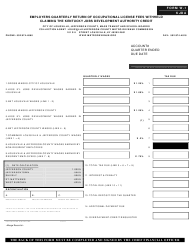 Form W-1 KJDA Employers Quarterly Return of Occupational License Fees Withheld Claiming the Kentucky Jobs Development Authority Credit - Kentucky, Page 3