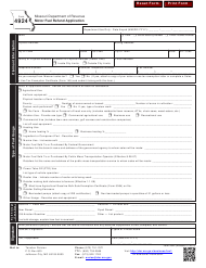 "Form 4924 ""Motor Fuel Refund Application"" - Missouri"