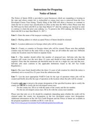 """Notice of Intent for Georgia Jobs Tax Credit"" - Georgia (United States)"