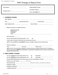 Form 3 Rap Change of Status Form