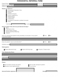 Periodontal Referral Form Template