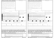 AMC Form 140 Space-Available Travel Request