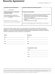 Security Agreement Form - Stanford Law School