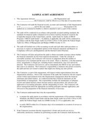 """Appendix D """"Sample Audit Agreement"""" - Connecticut"""
