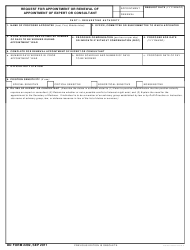 DD Form 2292 Request for Appointment or Renewal of Appointment of Expert or Consultant