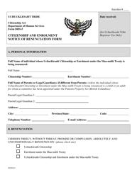 Form DHS-5 Citizenship and Enrollment Renunciation Form - British Columbia Canada
