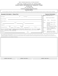Open Public Records Act Request Form - Brick Township Municipal Utilities Authority - New Jersey