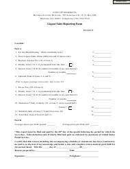 """Liquor Sales Reporting Form"" - City of Marietta, Georgia (United States)"