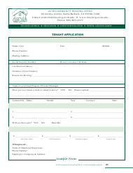 Tenant Application Form - Ucsb Community Housing Office - California