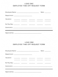 Employee Time off Request Form - Load One