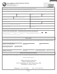 State Form 45387 Annual License Financial Report - Indiana