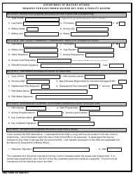 Form 120 Request for Electronic Access Key (Eak) & Facility Access - Wisconsin
