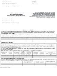 "Form DHS-2240 ""Change Report"" - Michigan"