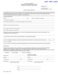 Form DIA 510 Notice of Employee Death - California