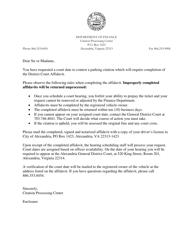 """District Court Affidavit Form"" - City of Alexandria, Virginia"