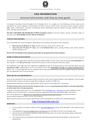 Italian Visa Checklist - Consolato Generale D'italia - Sydney, Australia